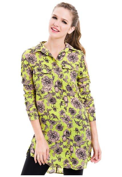 Camisa Verde 47 Street Tropical