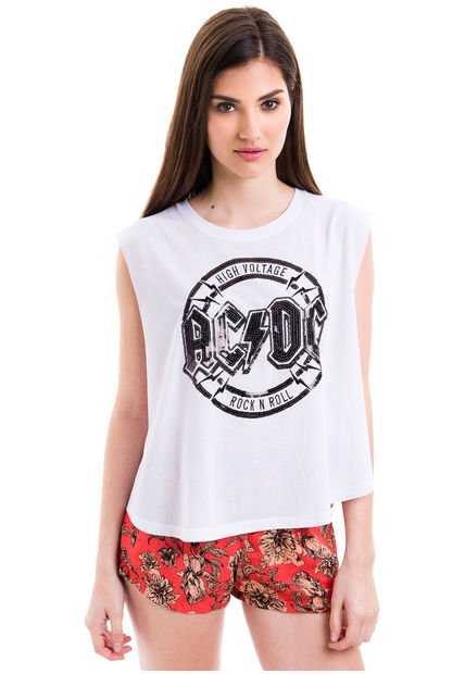 Musculosa Blanca 47 Street ACDC Lentils