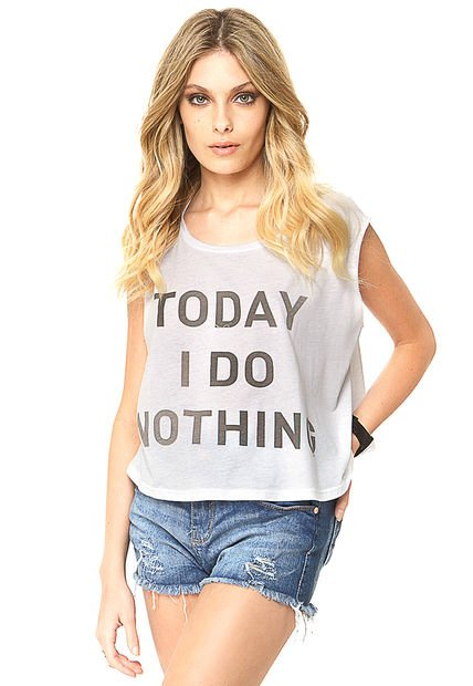 Musculosa Blanca 47 Street Nothing By Mich Kogan