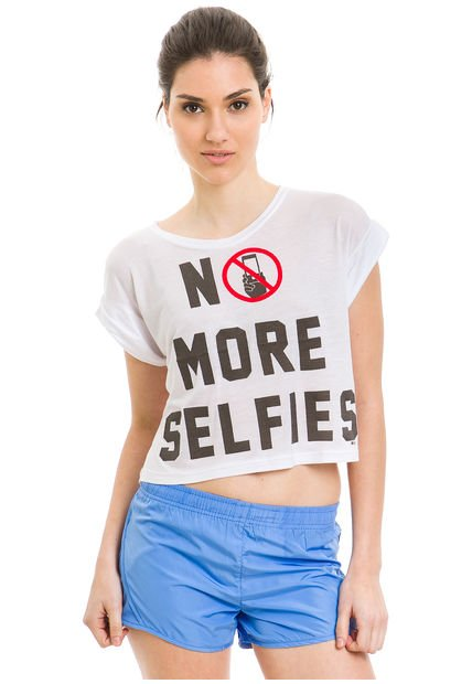Remera Blanca 47 Street No Selfies