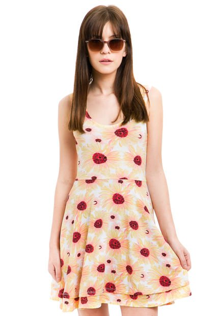 Vestido Amarillo 47 Street Daisy Flora