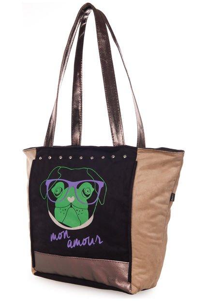 Cartera Negra Aldei Bags Estampada