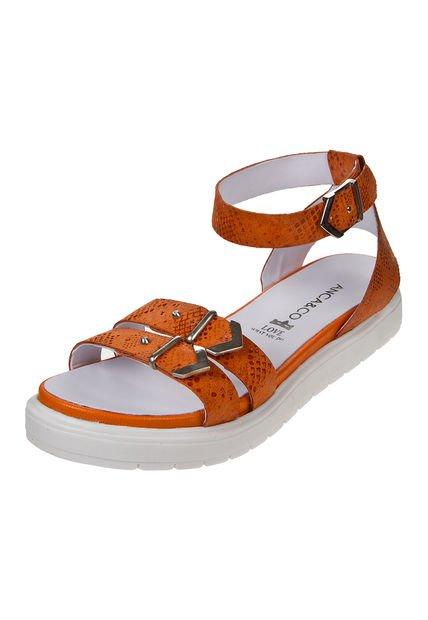 Sandalia Naranja Anca & Co.