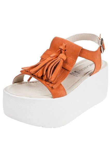 Sandalia Naranja Anca & Co. con Plataforma