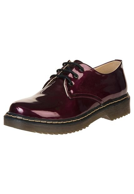 Zapato Bordo Anca & Co Charolado