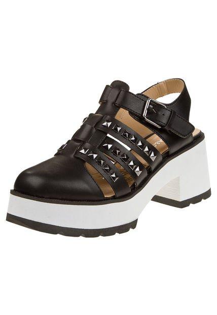 Zapato Negro Anca & Co. Combinado