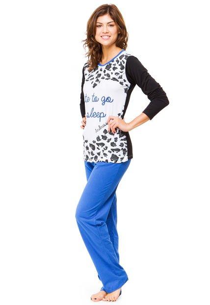 Pijama Azul Andressa Animal Print