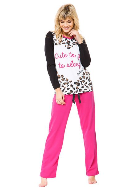 Pijama Fucsia Andressa Animal Print