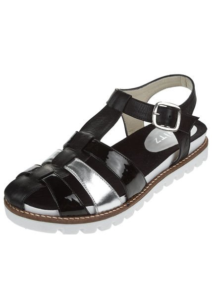 Sandalia Negra Brtiz Combinada