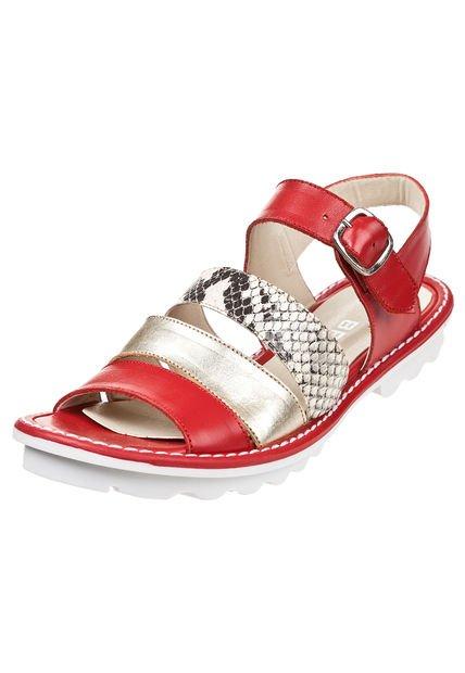 Sandalia Roja Britz Combinada