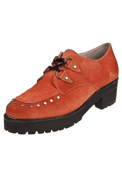 Zapato Naranja Combinado Britz