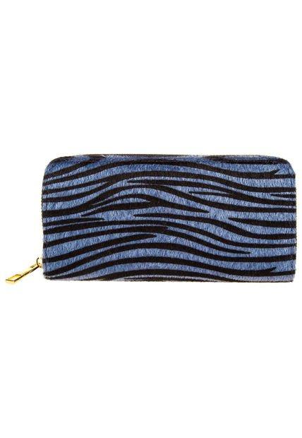 Billetera Azul Chenson Cebra