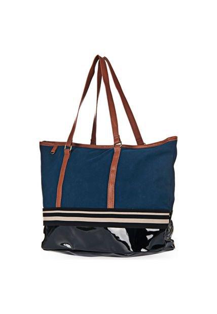Bolsa Shopping Azul Chenson Tira Bicolor