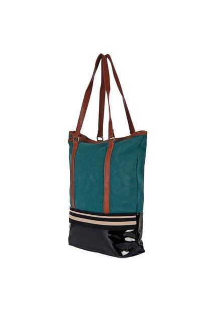 Bolso Verde Chenson Tira Bicolor Shopping