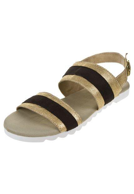 Sandalia Dorada Cianna Combinada