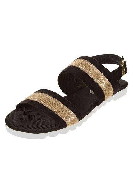 Sandalia Negra Cianna Combinada