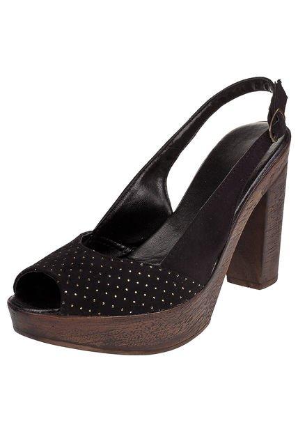 Sandalia Negra Cianna con Microtachas