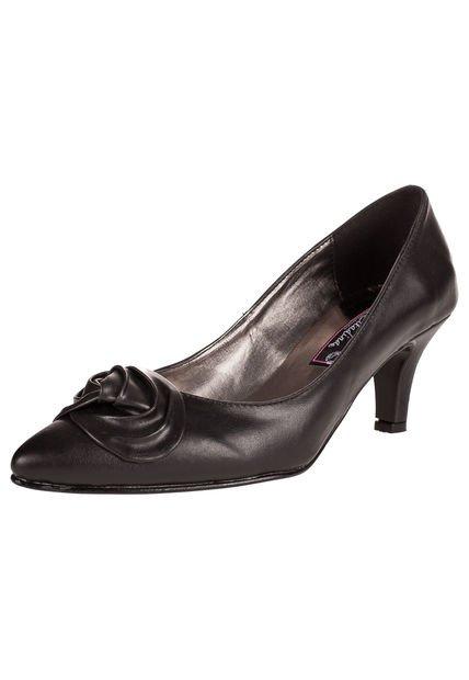 Zapato Negro Citadina con Aplique