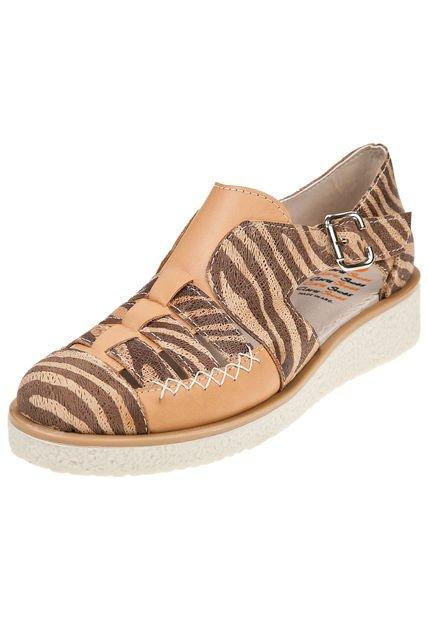 Zapato Suela Claris Shoes Combinado Cebra Confort