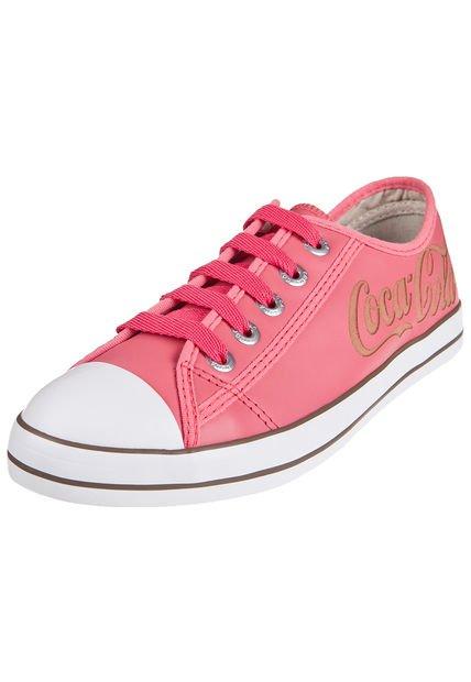Zapatilla Coral Coca- Cola Shoes Los Angeles Cuoro Low
