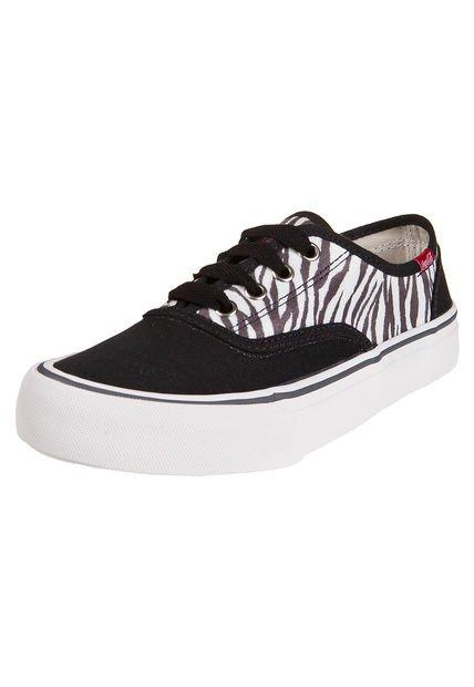 Zapatilla Negra Coca-Cola Shoes Kick Zebra