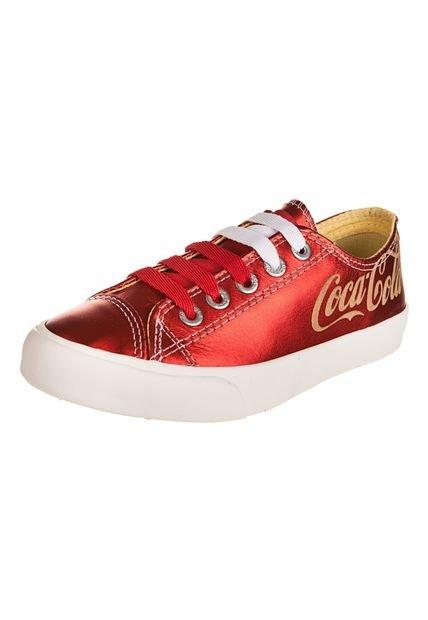 Zapatilla Roja Coca-Cola Shoes Plain Leather Low