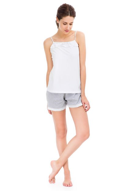Pijama Blanco Cocot Broderie