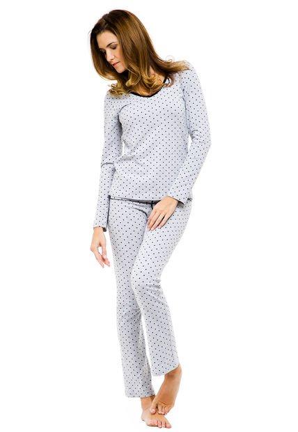 Pijama Gris Cocot Pintitas
