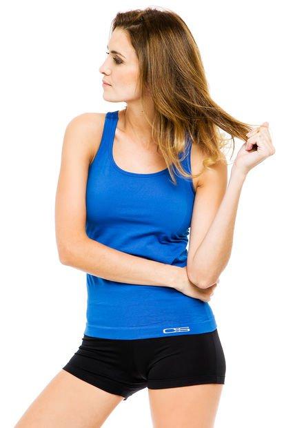 Musculosa Azul Cocot Sport Traforata