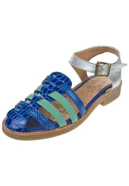 Sandalia Azul Corre Lola Croco