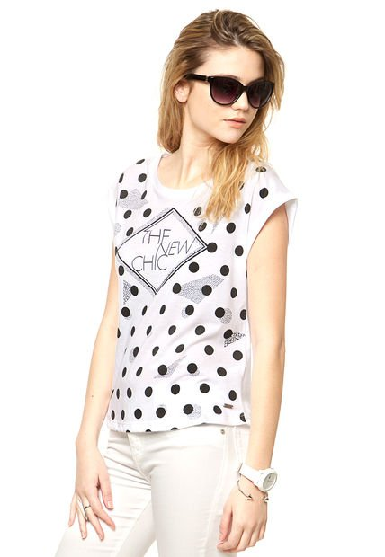 Remera Blanca Desiderata New Chic y Dots