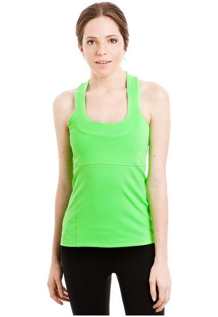 Musculosa Verde Fluo Fibra Humana