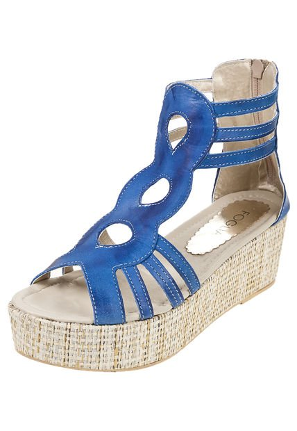 Sandalia Azul Foglia Campanula