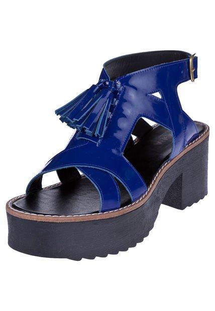 Sandalia Azul Foglia Datilero
