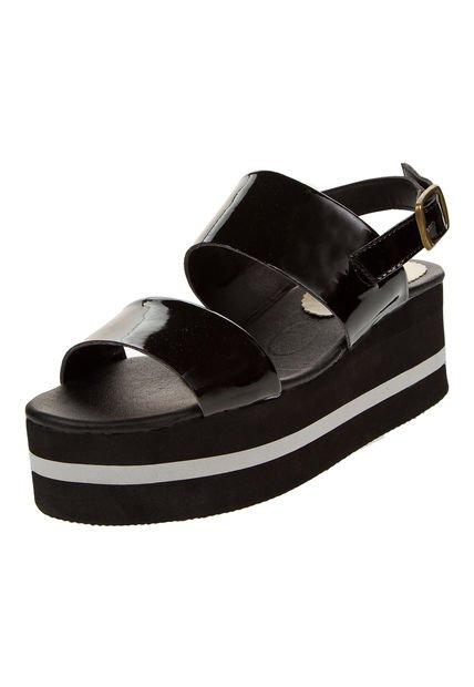 Sandalia Negra Foglia Liatris