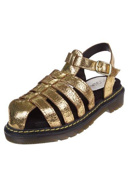 Sandalia Oro Foglia Pasionaria