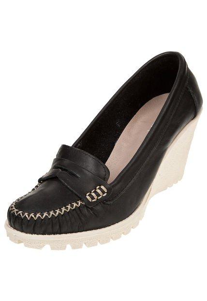 Zapato Negro Foglia Godettia