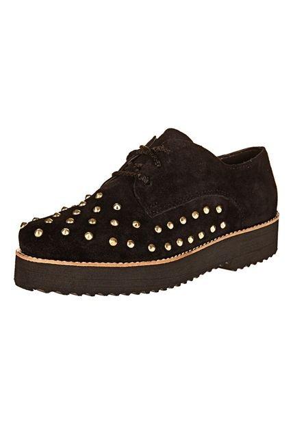 Zapato Negro Foglia Idola