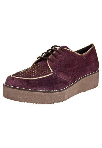 Zapato Violeta Green & Black Acordonado