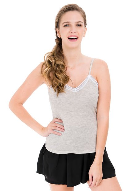 Musculosa Gris Hendy Datil