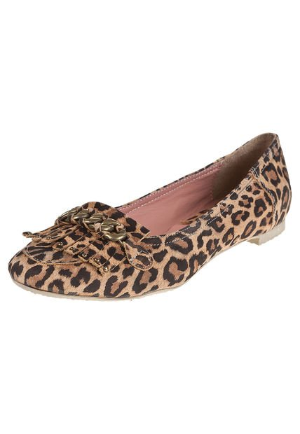 Mocasin Animal Print Heyas Sabina