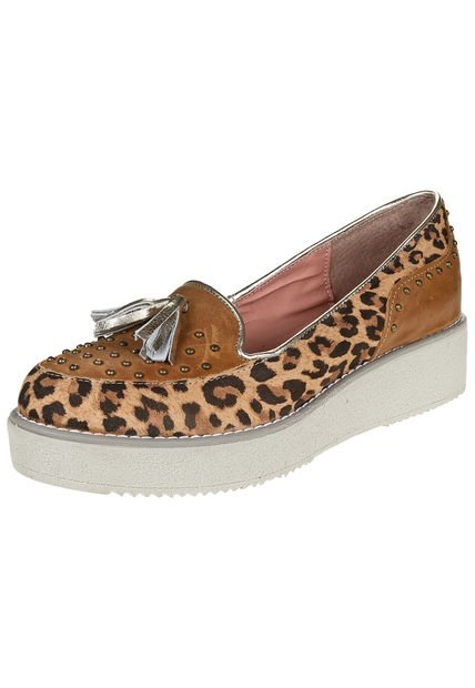 Mocasin Animal Print Heyas Sindy