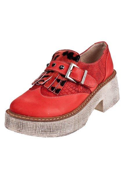 Zapato Rojo Heyas Since con Flecos