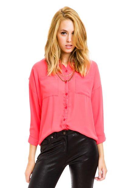 Camisa Coral Fluo Inedita