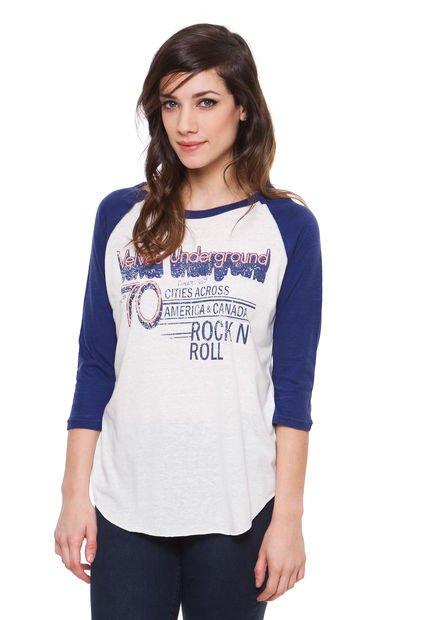 Remera Blanca Inedita Rock & Roll