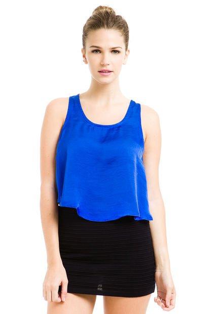 Musculosa Azul Inversa Dorian Grey