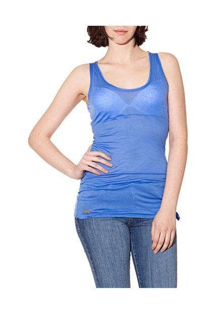 Musculosa Librito Jimezares Azul