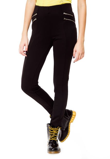 Legging Negra Julien Zipper