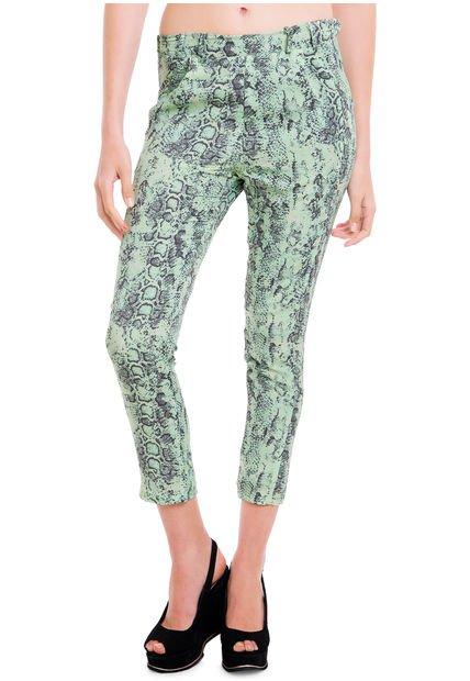 Pantalon Verde Julien Raby Print