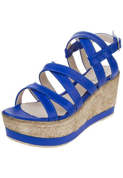 Sandalia Azul Kiazalla con Plataforma